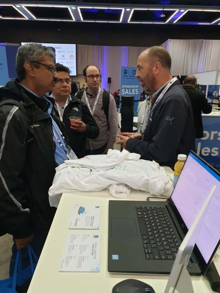 Gil Eyal, KubeMQ founder at KubeCon NA 2018 day 1.
